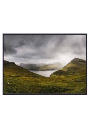 Panorama af natur på Færøerne
