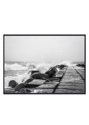 Bølger ved høfde Thyborøn