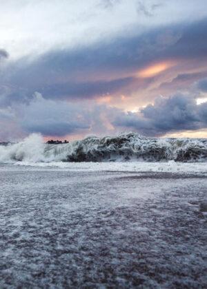 Vesterhav, bølger fotokunst