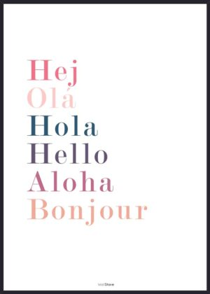 Plakat der siger hej