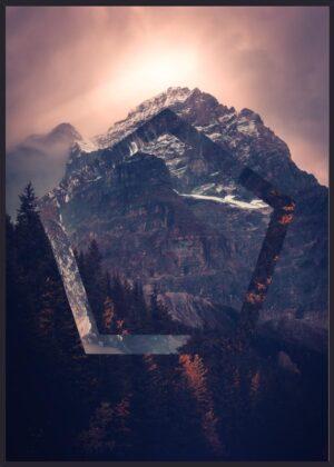 Pentagonal bjerg fotokunst