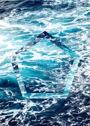 Fotoplakat af havet