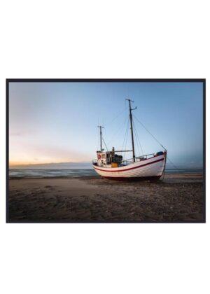 Fotokunst enkelt fiskerbåd