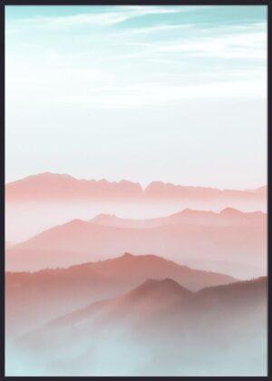 Flot solnedgang bjerge