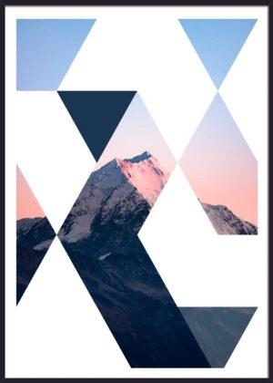 Bjerg fotokunst designplakat