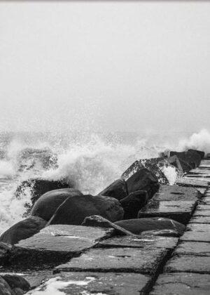 Bølgeskvulp ved Thyborøn