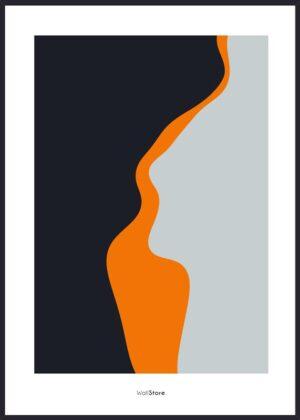 Plakat med orange former